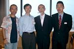 左から:中村隊長、真之助校長、福島正伸さん、佐藤康孝さん